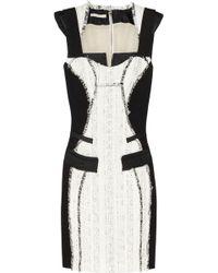 Antonio Berardi Bouclé-Tweed And Crepe Dress - Lyst