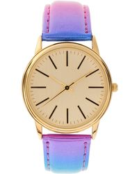 ASOS Collection Multi Colour Metallic Watch - Lyst