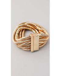 Belle Noel - Six Strand Snake Chain Bracelet - Lyst