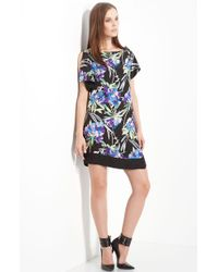 Elizabeth And James Nora Floral Print Silk Dress - Lyst