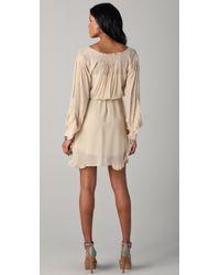 Madison Marcus Flourish Long Sleeve Dress - Natural
