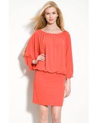 Nicole Miller Open Sleeve Jersey Dress - Lyst