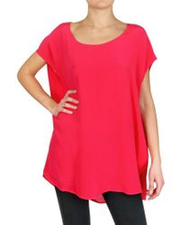 Space Crepe De Chine Tunic Top - Lyst