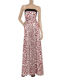 Thomas Wylde - Mate Printed Stretch-silk Jumpsuit - Lyst