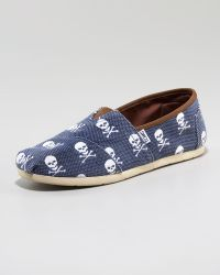 TOMS Enderby Skull-print Slip-on Espadrilles blue - Lyst