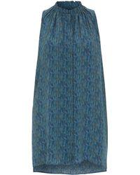 Whyred Milena Liberty Print Dr Tulloch Shirt Dress - Blue