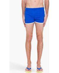 Y-3 - Blue Retro Swim Shorts - Lyst