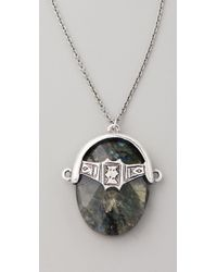 Low Luv by Erin Wasson Labradorite Afghani Toggle Necklace - Metallic