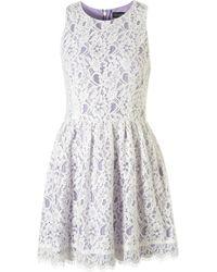 Topshop Sleeveless Lace Dress - Lyst