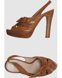 Prada Platform Sandals - Lyst