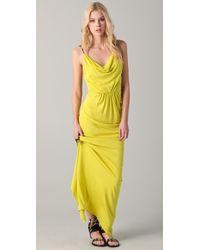 Cut25 Neon Gathered Waist Gown - Lyst