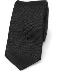 Balenciaga - Textured Slim Silk Tie - Lyst