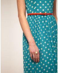 ASOS - Asos Heart Chain Hand Harness - Lyst