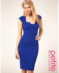 ASOS Collection Asos Petite Exclusive Sexy Pencil Dress with Bust Detail - Lyst