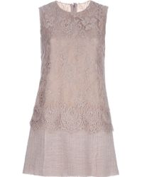 Dolce & Gabbana Lace Detail Dress - Lyst