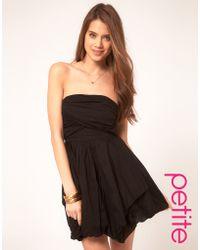 ASOS Collection Asos Petite Bubble Hem Strapless Dress - Lyst