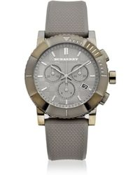 Burberry - Mens Grey Chronograph Watch - Lyst