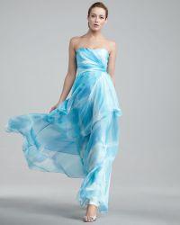 Hoaglund New York Strapless Tiered Gown - Lyst