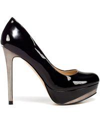Zara Patent Leather Platform Court Shoe - Lyst