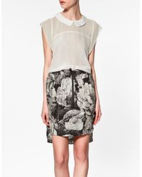 Zara Top With Shoulder Frill - Lyst