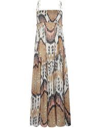 AllSaints Ikat Maxi Dress brown - Lyst