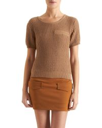 Antipodium - Knit Short Sleeve Jumper - Lyst