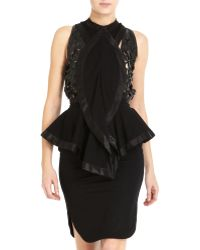 Givenchy Wave Front Dress black - Lyst