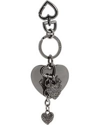Juicy Couture Its in The Details Pave Heart Key Fob silver - Lyst