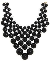 Kate Spade Dotz Bib Necklace - Lyst