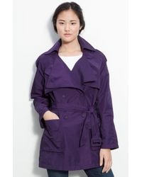 Kenneth Cole Double Collar Trench Coat - Lyst