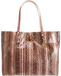 Lanvin - Happy Snakeskin Cabas Tote - Lyst
