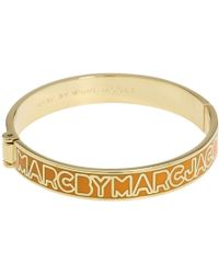 Marc By Marc Jacobs Classic Marc Skinny Hinge Bangle - Lyst