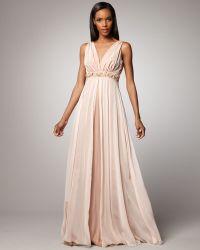 Rickie Freeman for Teri Jon Beaded-waist Gown - Lyst