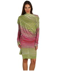 Vivienne Westwood Anglomania Long Sleeve Drape Dress - Lyst