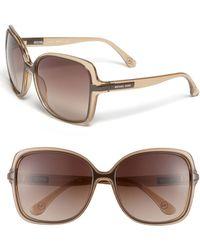 MICHAEL Michael Kors Michael Redonda Square Oversized Sunglasses - Lyst