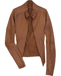 Bess Sioux Raw-Edge Leather Jacket - Lyst