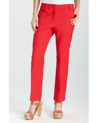 Kenneth Cole Skinny Ankle Pants - Lyst