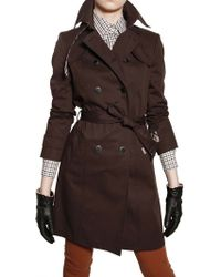 Daks Stretch Cotton Gabardine Trench Coat - Brown