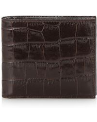 Harrods - Crocodile Embossed Leather Wallet - Lyst