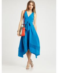 Marc By Marc Jacobs Silk Crepe-de-chine Dress - Lyst