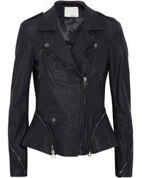 3.1 Phillip Lim Leather Motocross Jacket - Lyst