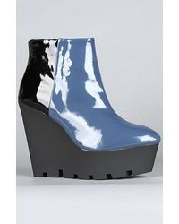 Cheap Monday The Monolit Patent Wedge in Blue - Lyst
