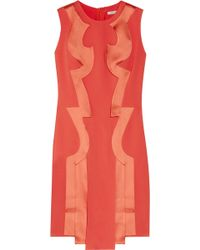 Hakaan Arussi Satin-trimmed Crepe Dress red - Lyst