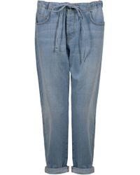 Current/Elliott The Drawstring Boyfriend Jeans - Lyst