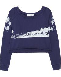Thakoon Addition Maui Printed Cotton Sweatshirt - Lyst