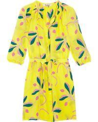 Tucker - Printed Silk Shirt Dress - Lyst