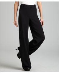 Hermès Black High Waist Silk Flared Pants - Lyst