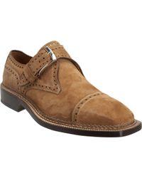 Bettanin & Venturi - Wingtip Monk Shoe - Lyst