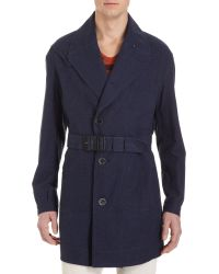 Burberry Prorsum Double Breasted Oversize Trench - Lyst