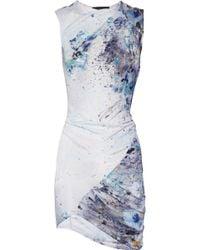 Aminaka Wilmont - Printed Satin-jersey Dress - Lyst